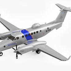 Beechcraft Super King Air 350CER 3D Model