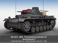 SD.KFZ 267 - PzBefWg III - Ausf.F - 9 PzDiv 3D Model