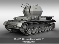 SD.KFZ 161/4 - Flakpanzer 4 - Wirbelwind 3D Model