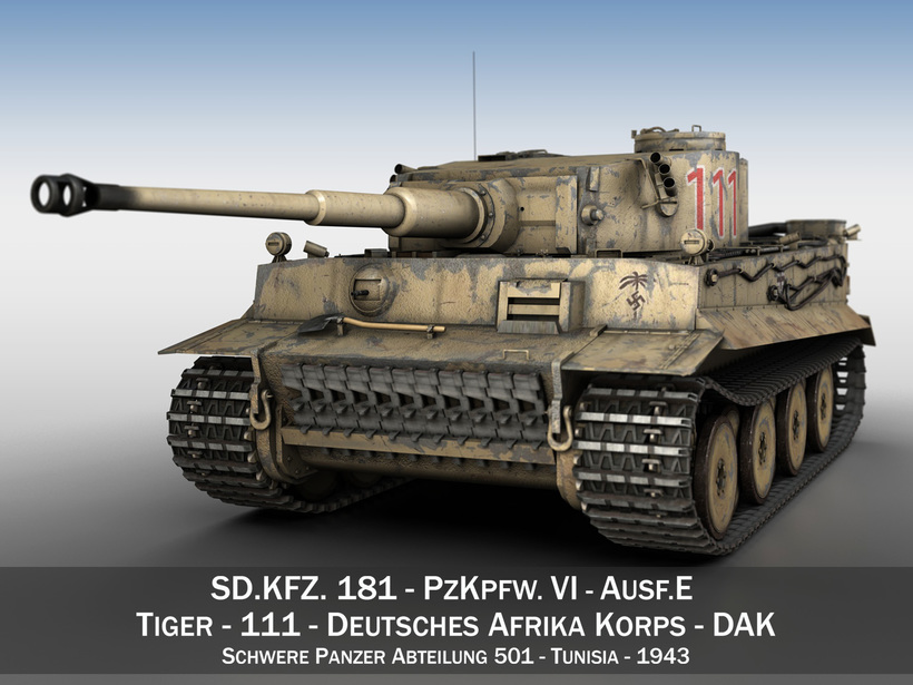 Panzer VI - Tiger - 111 - Early Production 3D Model