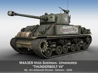 M4A3E8 HVSS Sherman - Thunderbolt VII 3D Model