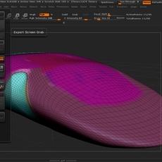 Futuristic car Tool for Zbrush 3D Model