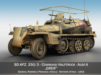 SD.KFZ 250 3 - Greif - Half-track command variant 3D Model