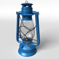 Hurricane kerosene lamp lantern 3D Model