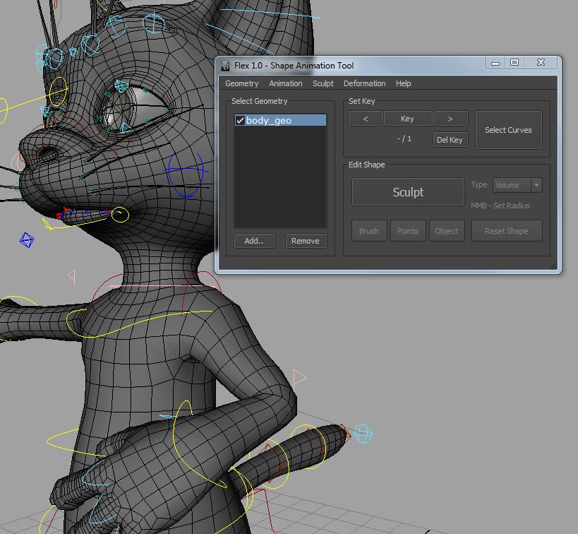 Shape Animation Tool for Maya