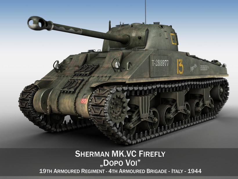 Sherman MK VC Firefly - Dopo Voi 3D Model