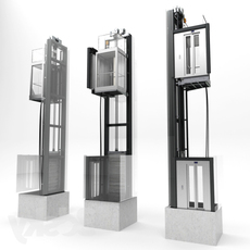 Glass Elevator Lift 3D Model
