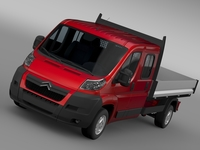 Citroen Jumper Crew Cab Truck 2009-2014 3D Model