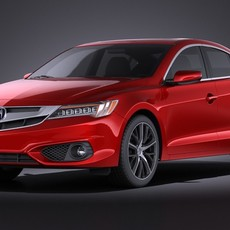 Acura ILX 2016 VRAY 3D Model