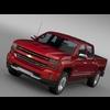 Chevrolet Silverado LTZ Z71 Crew Cab (GMTK2 ) St Box 2016 3D Model