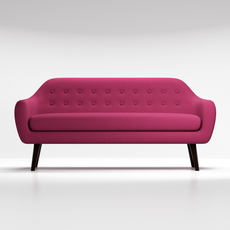Sofa Ritchie purple 3D Model