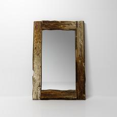 Wooden mirror 3D Model