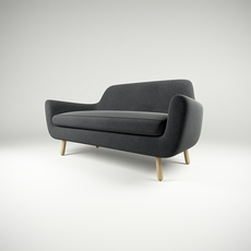 Sofa Jonah dark grey 3D Model