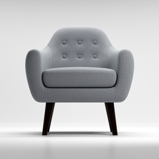 Armchair Ritchie pearlgrey 3D Model