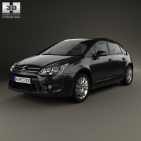 Citroen C4 hatchback 2008 3D Model