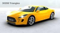 Generic Sports Car Realtime 3D Model