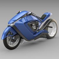 Sport bike futuristic concept 3D Model