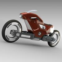 Racing sportbike concept 3D Model