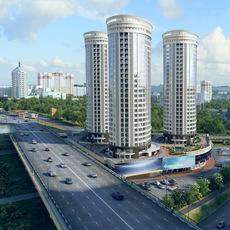 City detailed 3d scene 3D Model