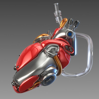 Artificial cyber heart 3D Model