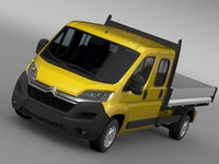 Citroen Jumper Crew Cab Truck 2016 3D Model