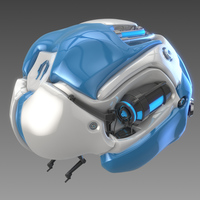 Artificial brain concept 3D Model