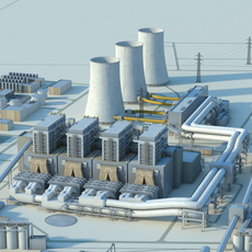 Power plant 3D Model