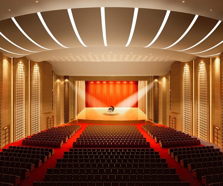 Interior Design Ideas For Home Theater: Theater Scene Interior Concert Hall Opera Cinema 3D Model