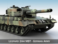 Leopard 2A4 MBT - Germany 3D Model