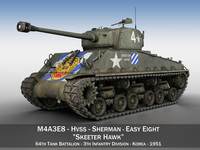 M4A3E8 Sherman - Easy Eight - Skeeter Hawk 3D Model
