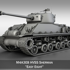 M4A3E8 - Sherman - Easy Eight 3D Model