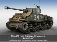 M4A3E8 HVSS Sherman - Army Mule 3D Model