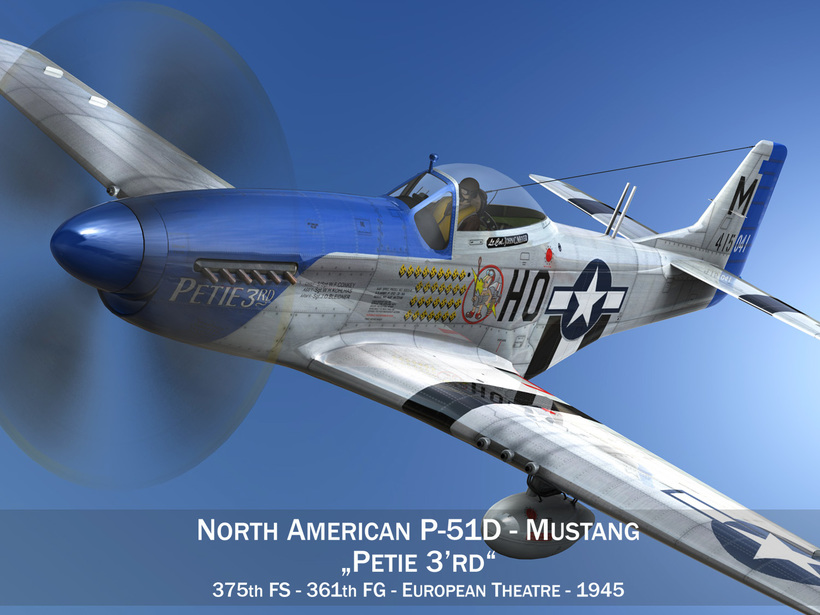 North American P-51D Mustang - Petie 3rd 3D Model