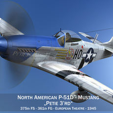 North American P-51D Mustang - Petie 3rd 3D Model