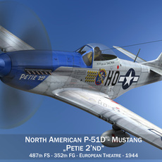 North American P-51D Mustang - Petie 2nd 3D Model