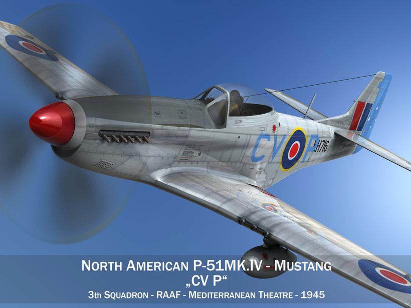 North American P-51K Mustang MK.IV - RAAF 3D Model
