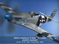 North American P-51D Mustang - Jumpin Jacques 3D Model