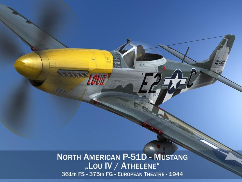 North American P-51D Mustang - Lou IV 3D Model