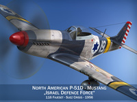 North American P-51D Mustang - Israel Defence Force 3D Model