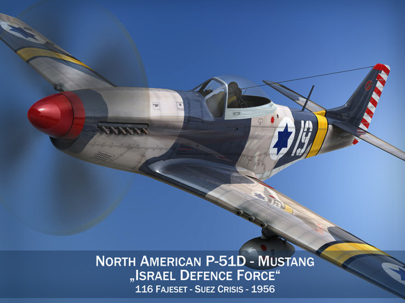 North American P 51D Mustang Israel Defence Force 3D Model