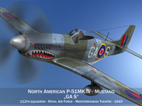 North American P-51K Mustang MK.IV - RAF 3D Model