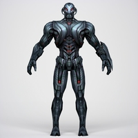 Game Ready Superhero Ultron 3D Model