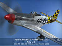 North American P-51D Mustang - Shu Shu 3D Model