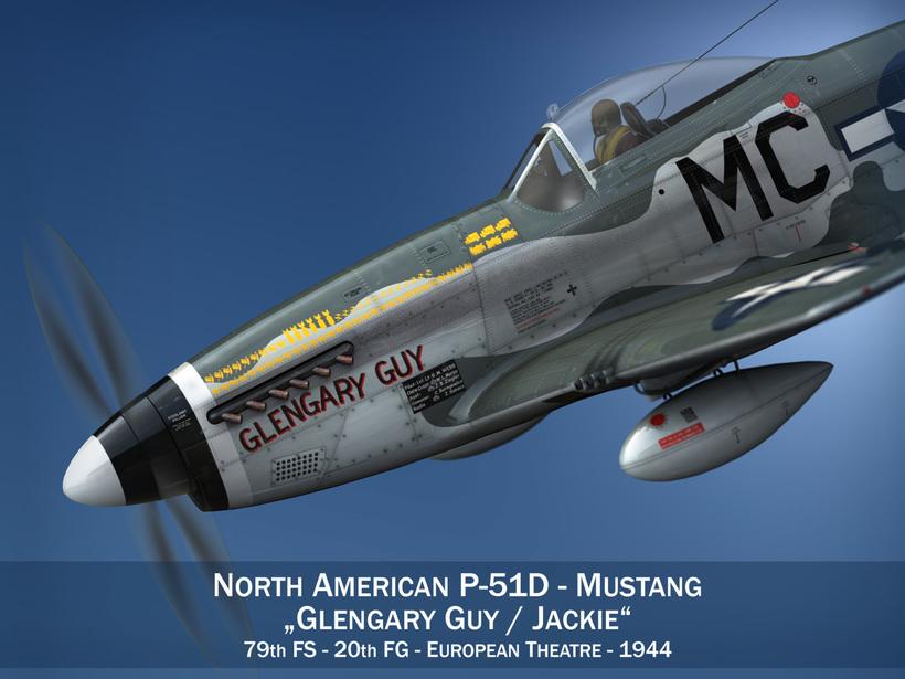 North American P-51D Mustang - Glengary Guy 3D Model