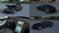Tesla Model S with interior HDRI 3D Model