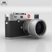 Leica M (Type 240) Silver 3D Model