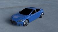 Tesla Model S P85 HDRI 3D Model