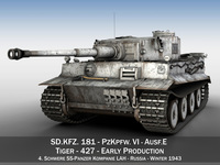Panzer VI - Tiger - 427 - Early Production 3D Model