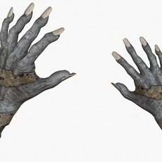 Zombie Hands Animated 3D Model