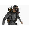 Scuba Diver Animated 3D Model